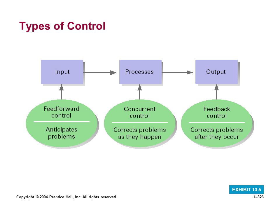 Types of Control EXHIBIT 13.5
