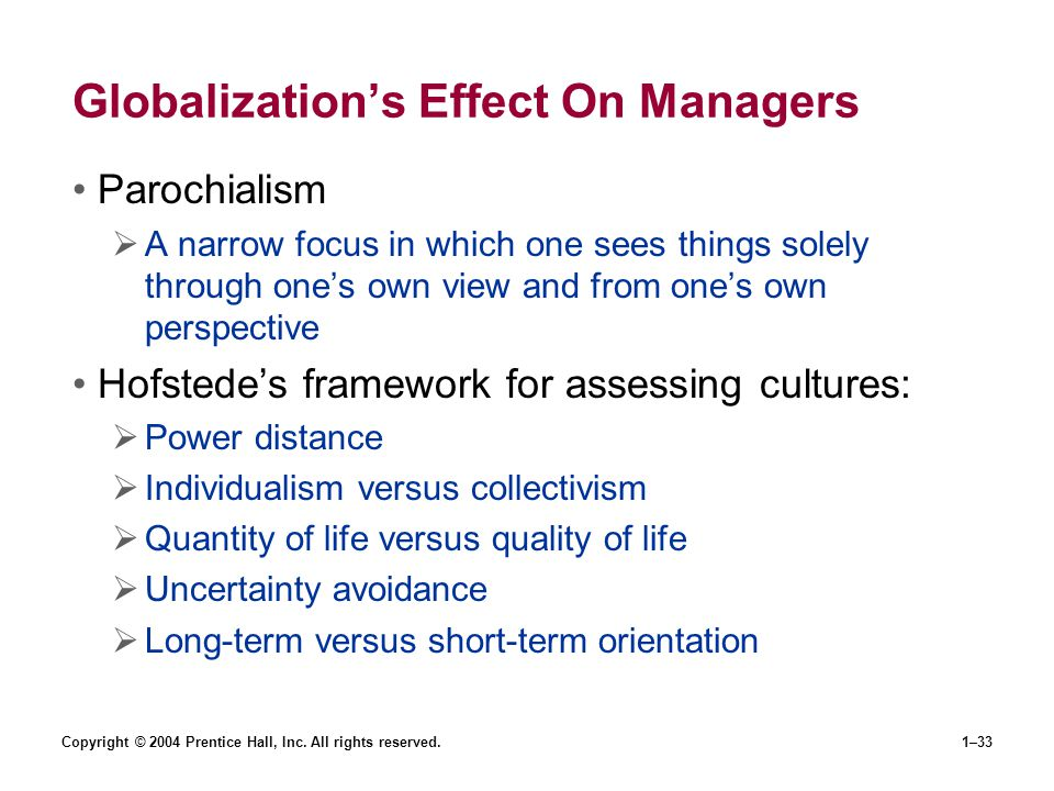 Globalization's Effect On Managers