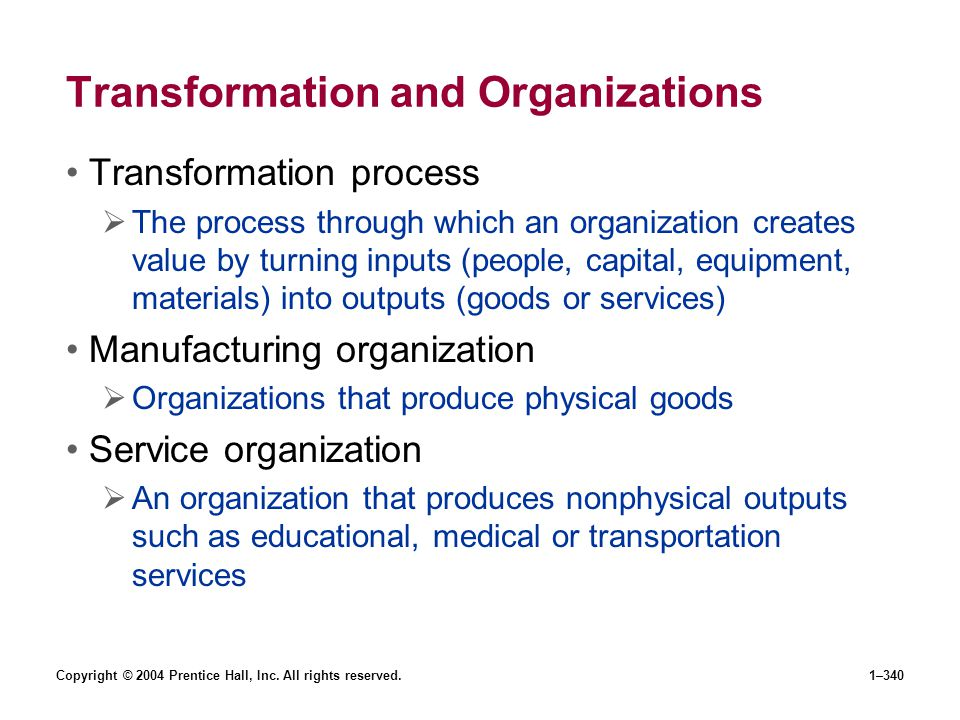 Transformation and Organizations