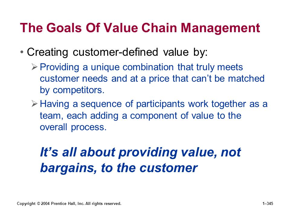 The Goals Of Value Chain Management