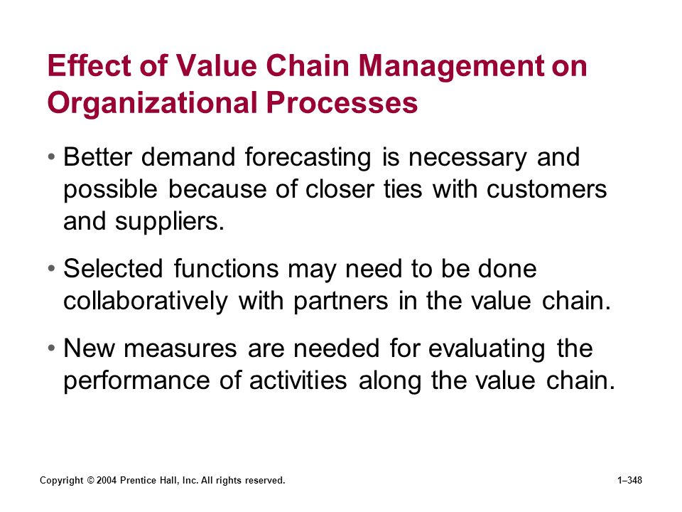 Effect of Value Chain Management on Organizational Processes