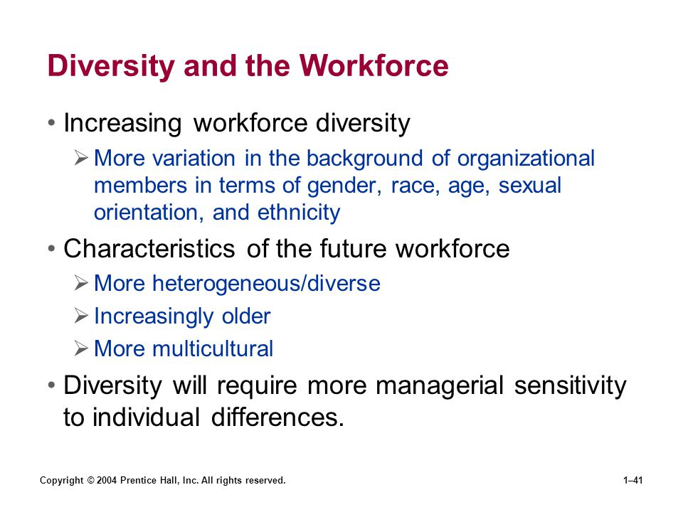 Diversity and the Workforce
