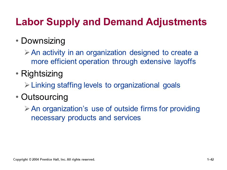 Labor Supply and Demand Adjustments