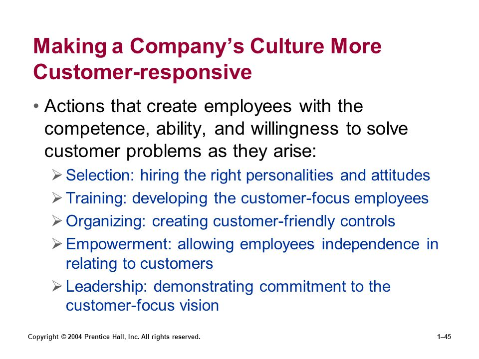 Making a Company's Culture More Customer-responsive