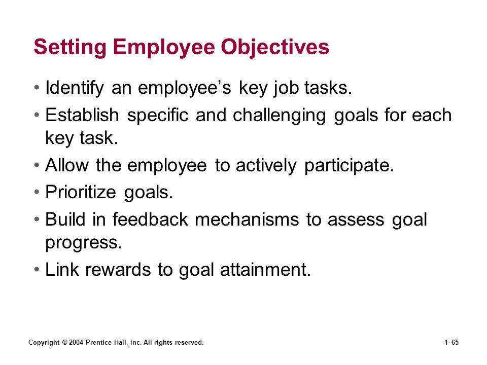 Setting Employee Objectives