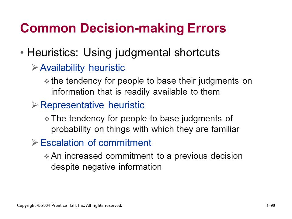Common Decision-making Errors