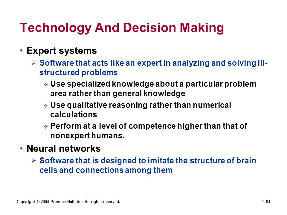 Technology And Decision Making