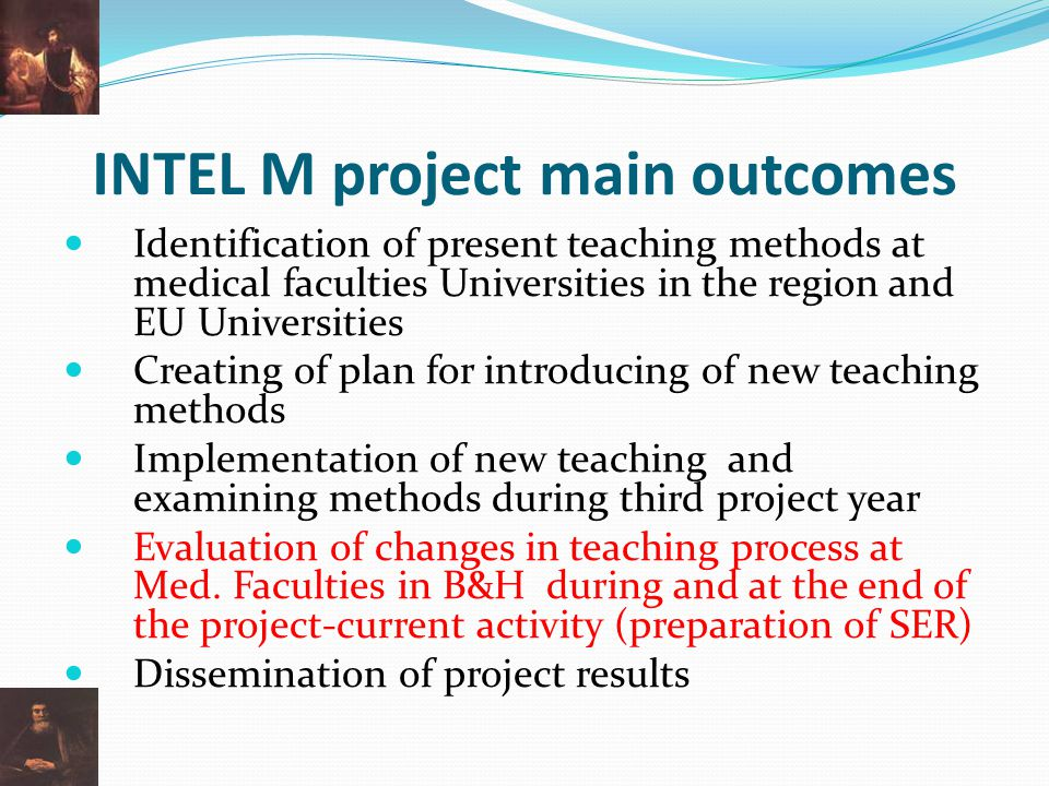 INTEL M project main outcomes