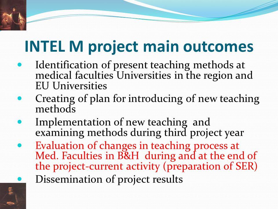 INTEL M project main outcomes