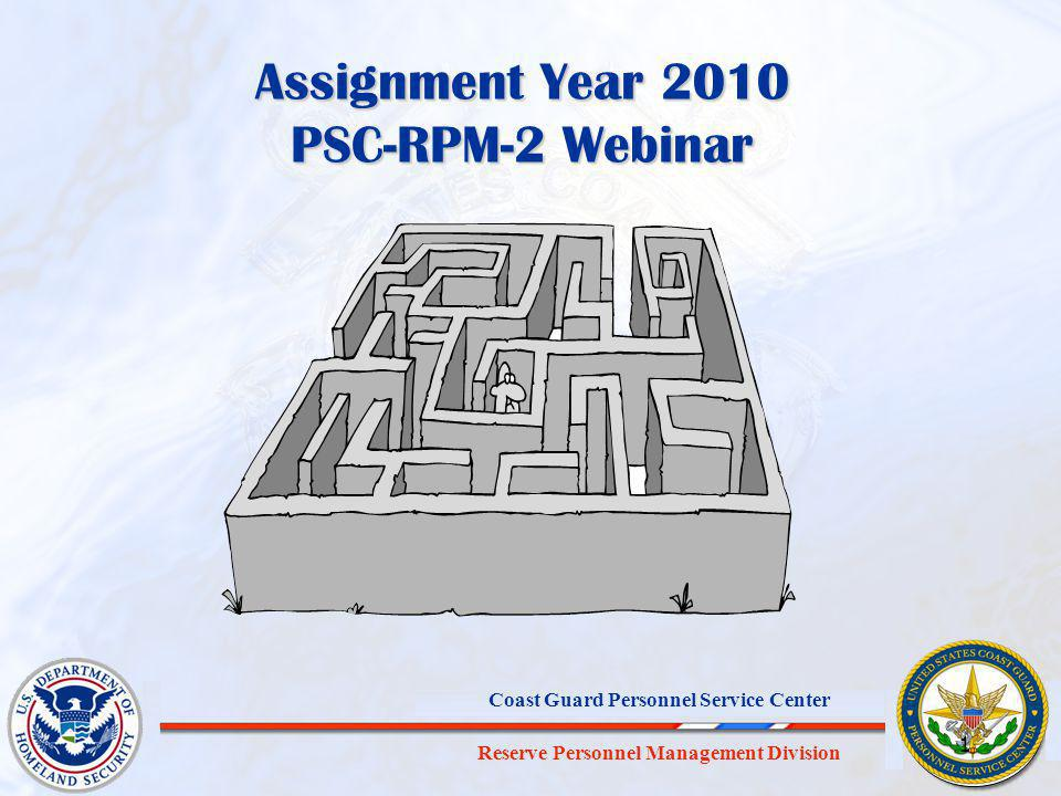 Assignment Year 2010 PSC-RPM-2 Webinar