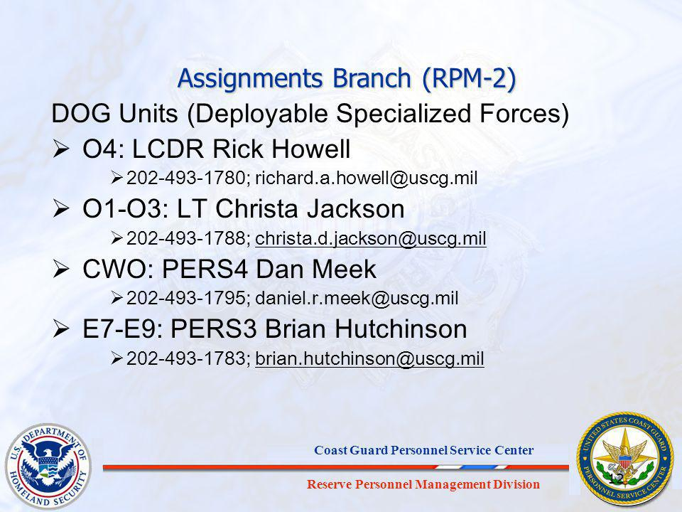 Assignments Branch (RPM-2)