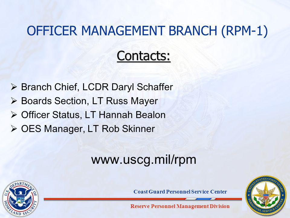 OFFICER MANAGEMENT BRANCH (RPM-1)