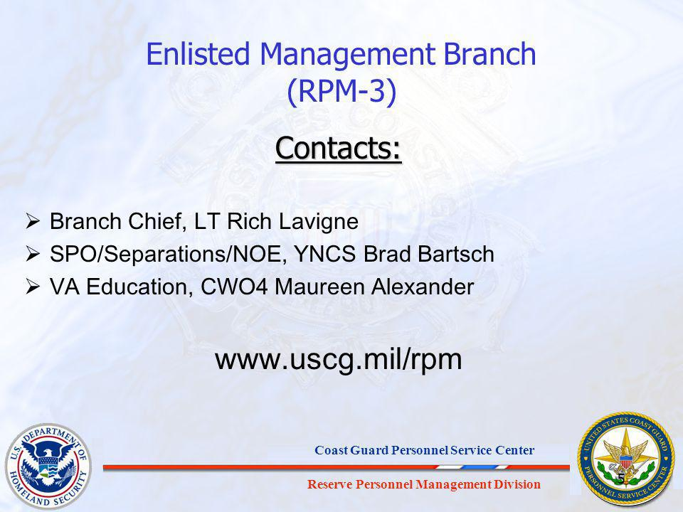 Enlisted Management Branch (RPM-3)