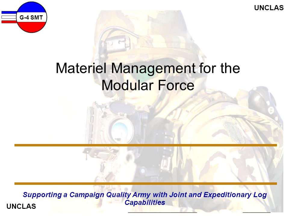 Materiel Management for the Modular Force