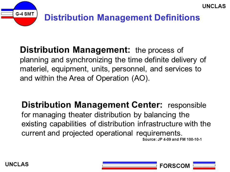 Distribution Management Definitions