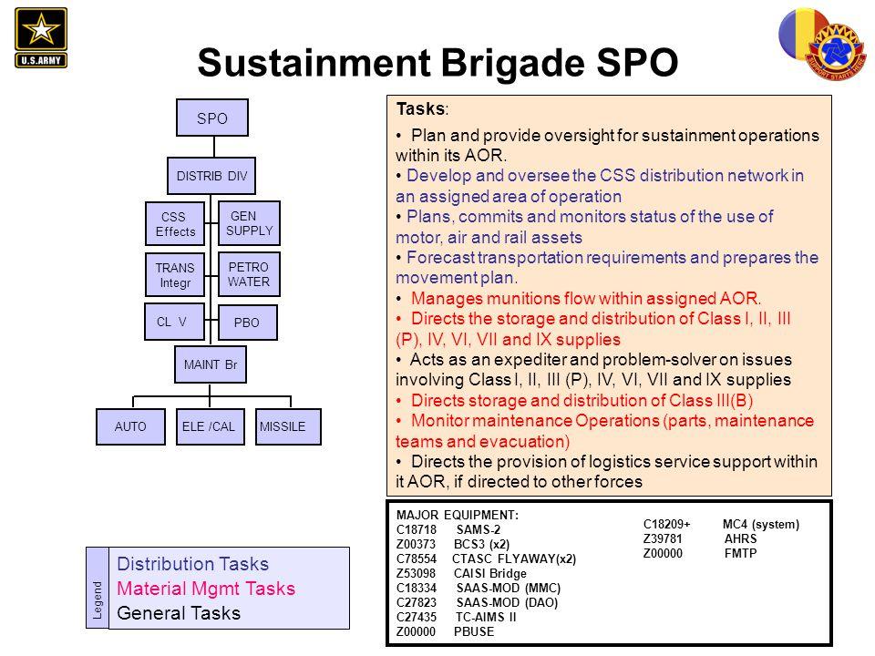 Sustainment Brigade SPO