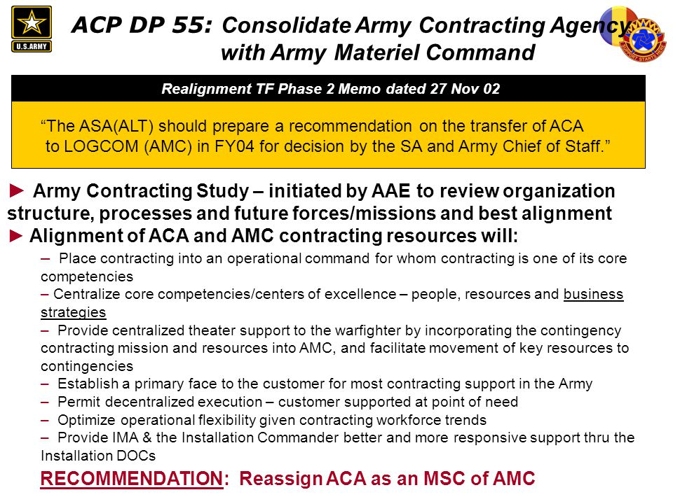Realignment TF Phase 2 Memo dated 27 Nov 02