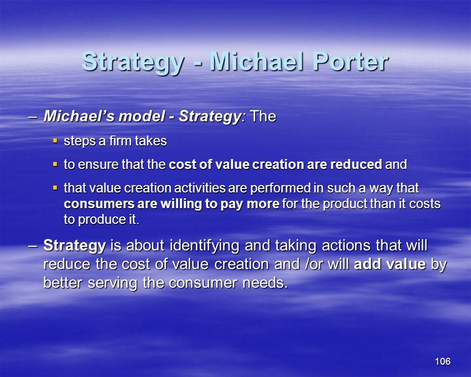 Strategy - Michael Porter