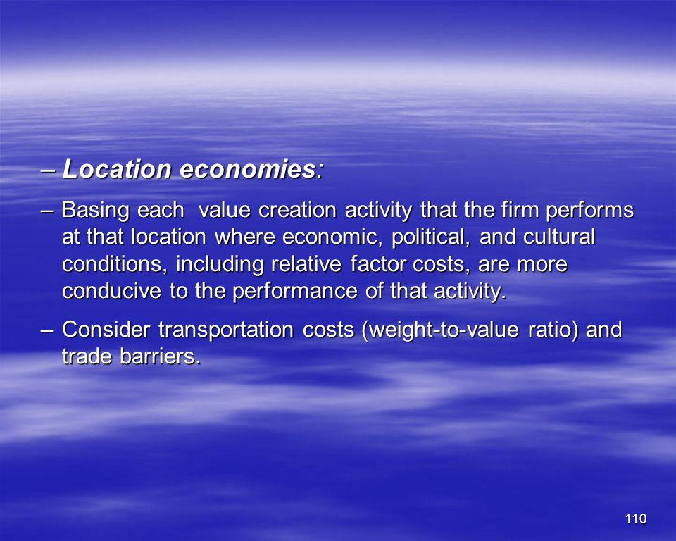 Location economies: