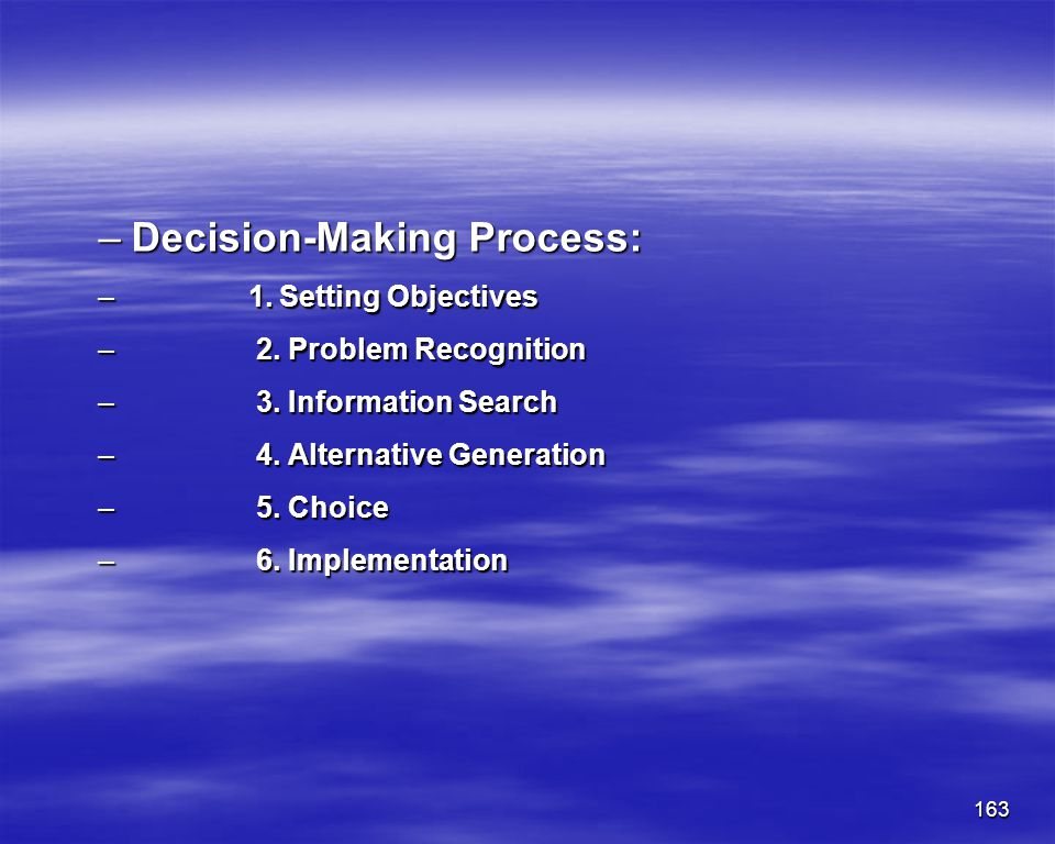 Decision-Making Process: