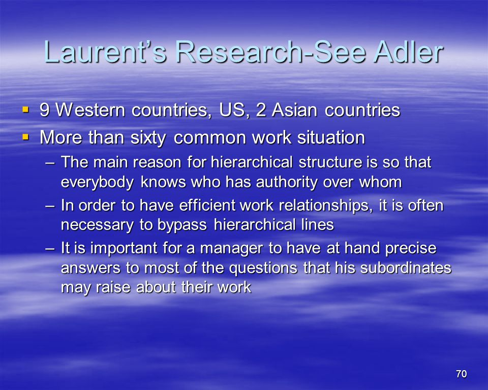 Laurent's Research-See Adler
