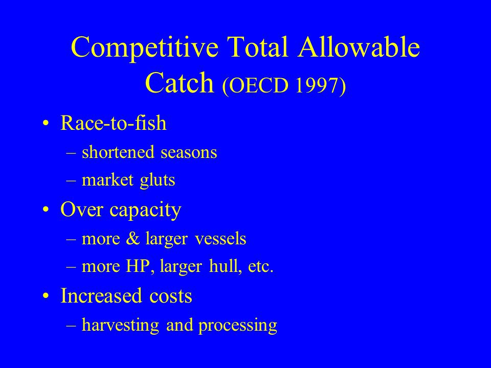 Competitive Total Allowable Catch (OECD 1997)