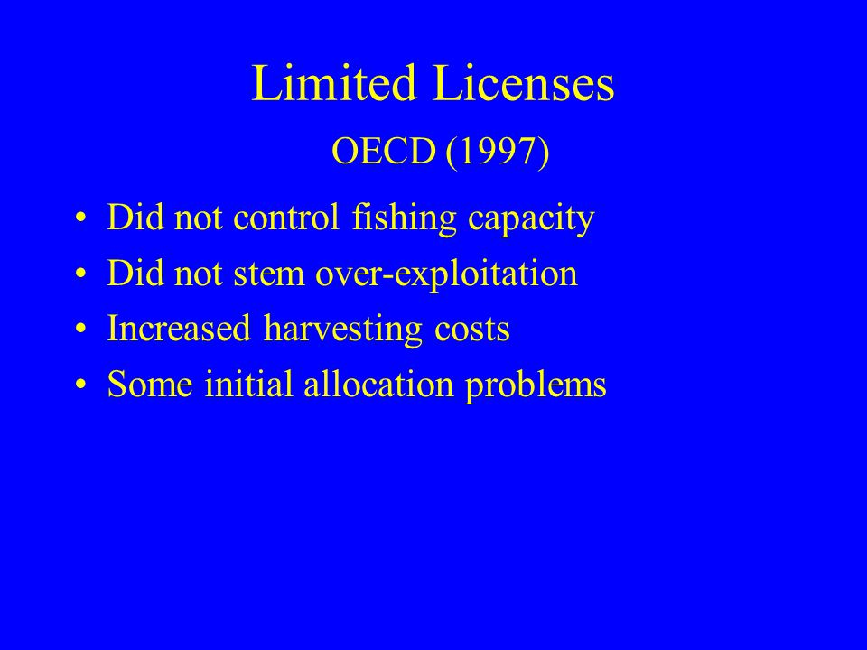 Limited Licenses OECD (1997)