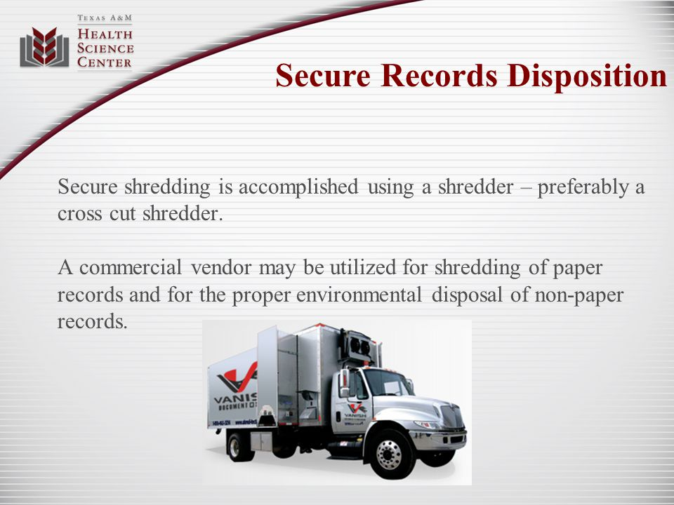 Secure Records Disposition