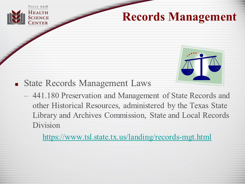 State Records Management Laws