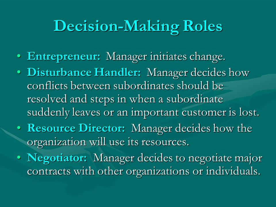 Decision-Making Roles