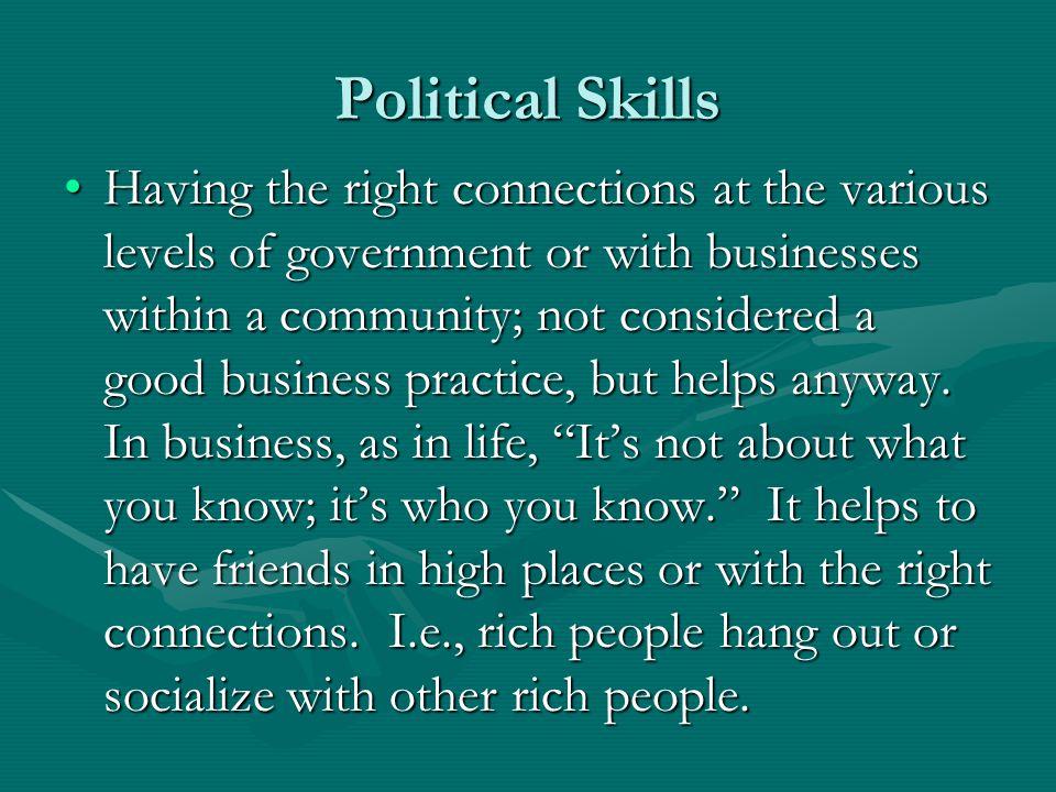 Political Skills