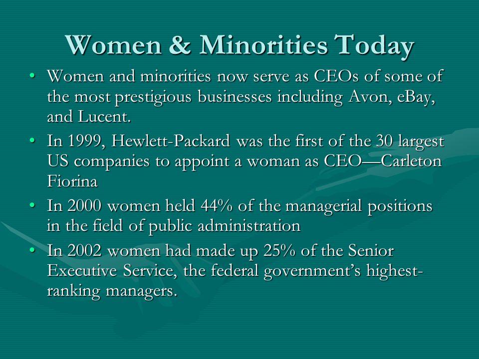 Women & Minorities Today
