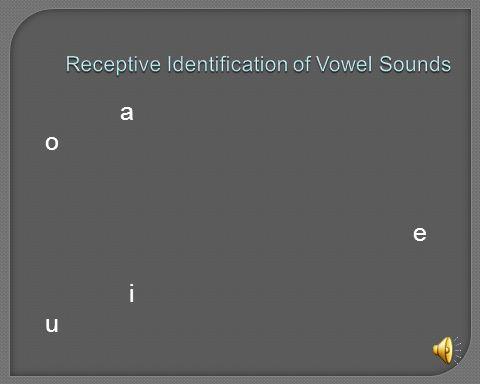 Receptive Identification of Vowel Sounds