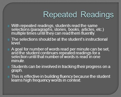 Repeated Readings