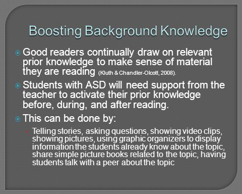 Boosting Background Knowledge