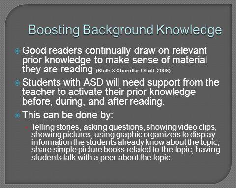 Boosting Background Knowledge