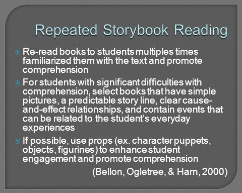Repeated Storybook Reading