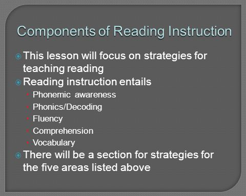 Components of Reading Instruction