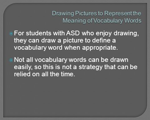 Drawing Pictures to Represent the Meaning of Vocabulary Words