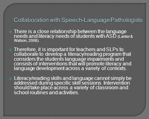 Collaboration with Speech-Language Pathologists