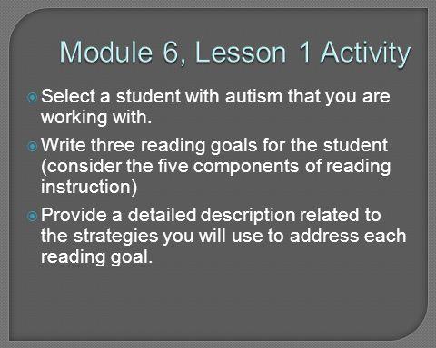 Module 6, Lesson 1 Activity