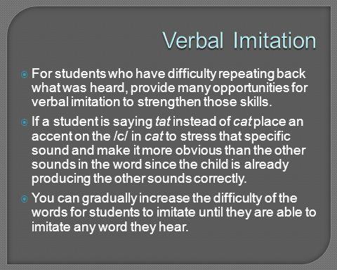 Verbal Imitation