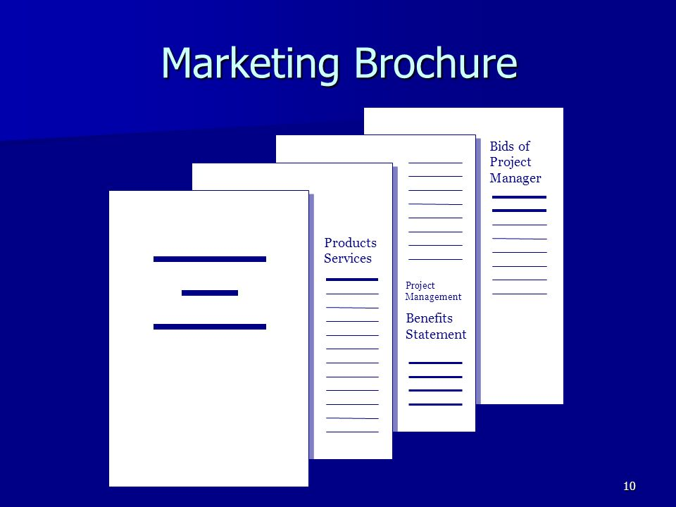 Marketing Brochure Bids of Project Manager Products Services