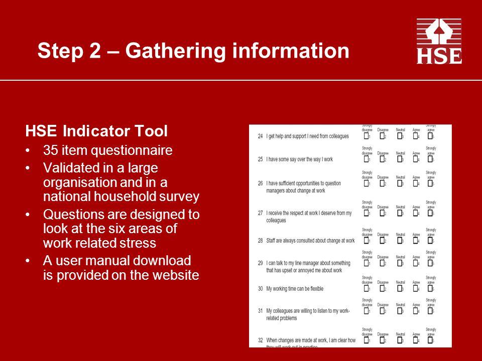 Step 2 – Gathering information