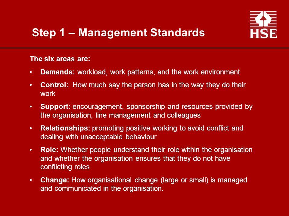 Step 1 – Management Standards