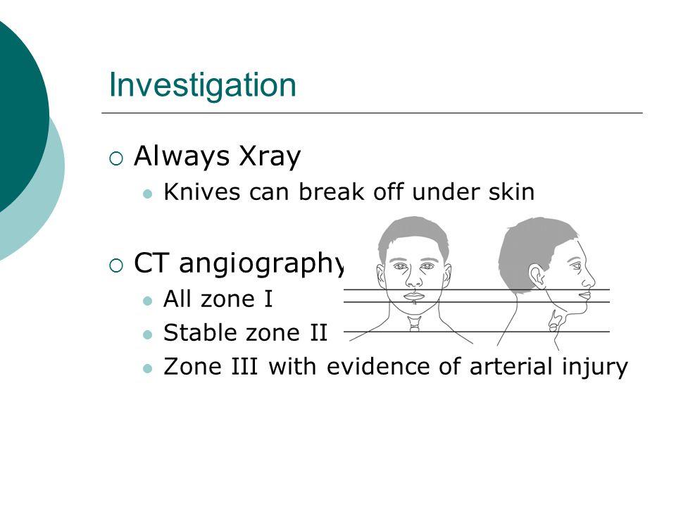 Investigation Always Xray CT angiography