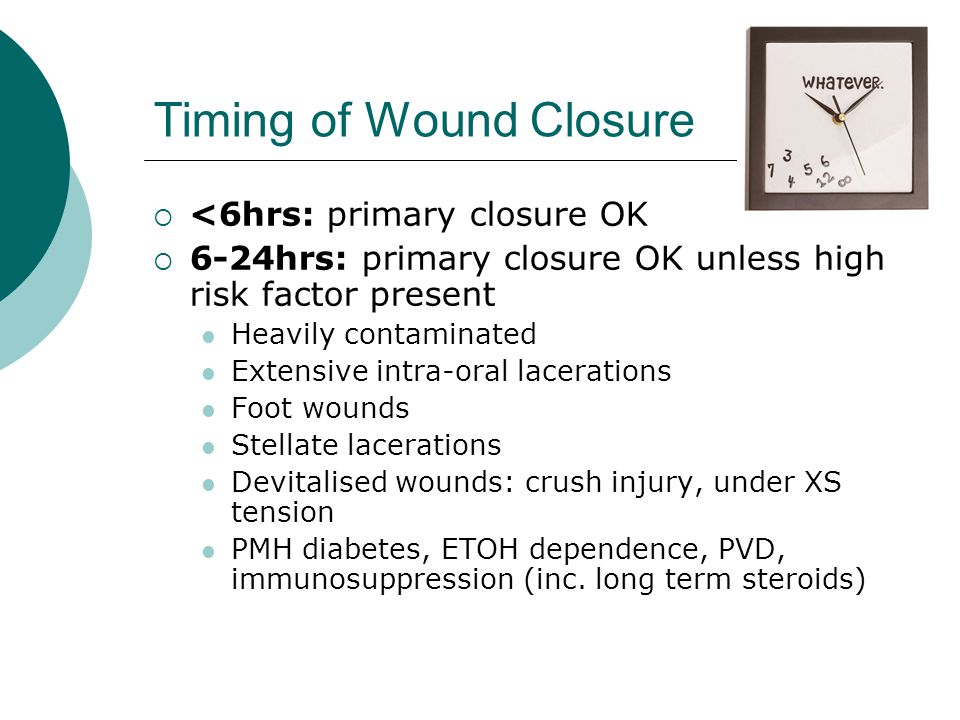 Timing of Wound Closure
