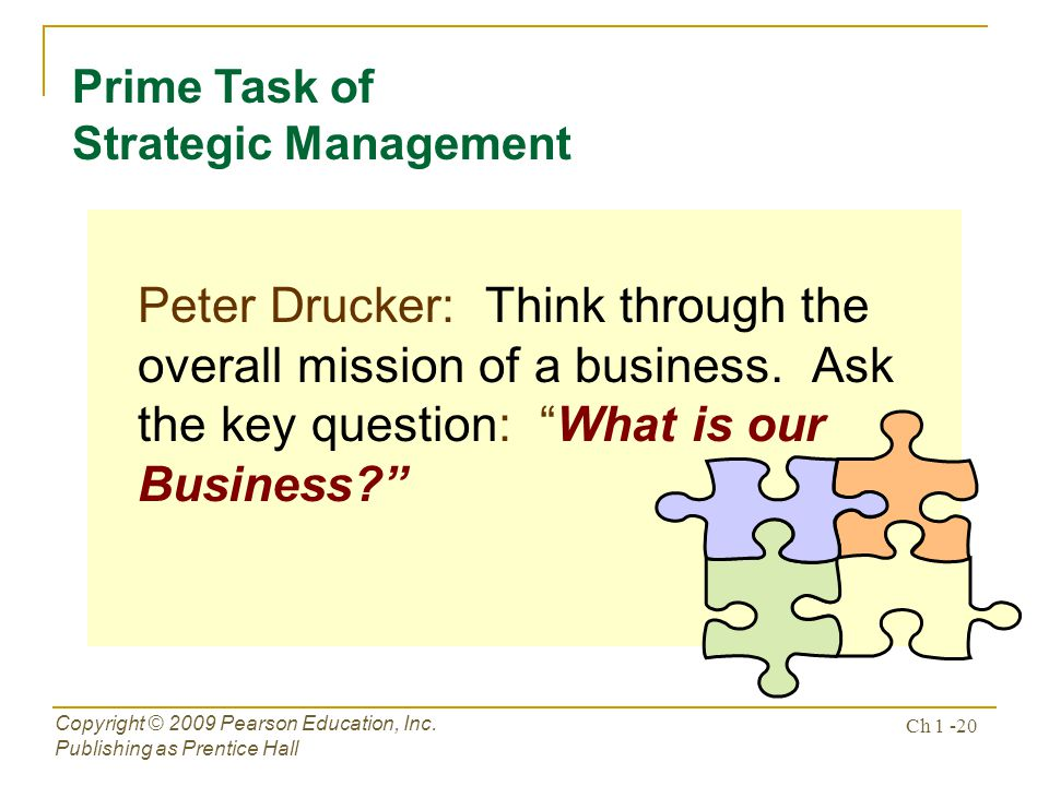 Prime Task of Strategic Management