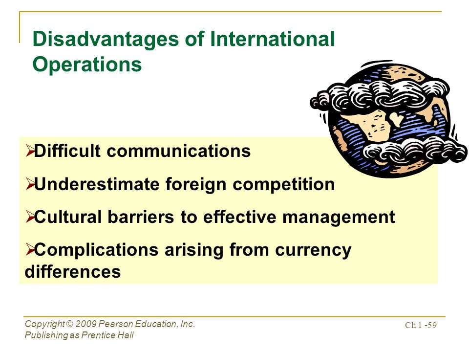 Disadvantages of International Operations
