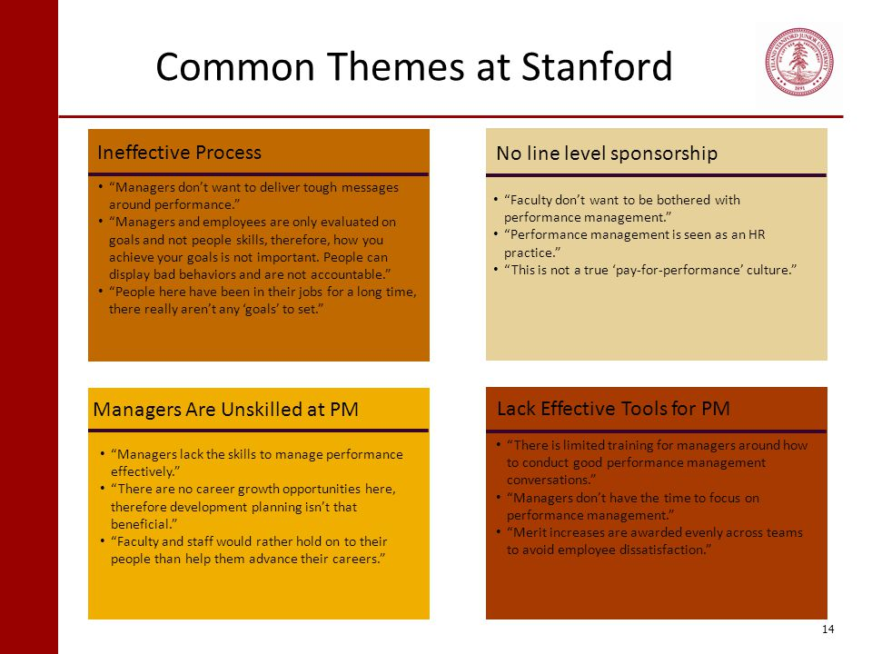 Common Themes at Stanford